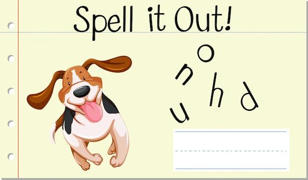 Przeliteruj angielskie słowo hound