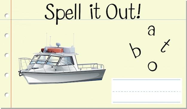 Przeliteruj angielskie słowo łódź