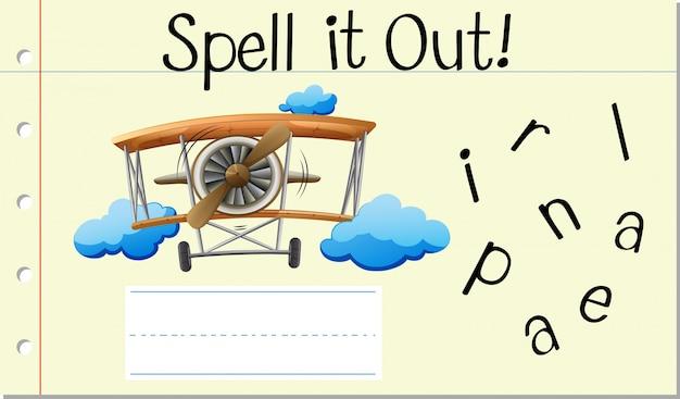 Przeliteruj angielskie słowo samolot