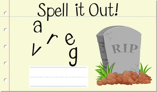 Przeliteruj grób