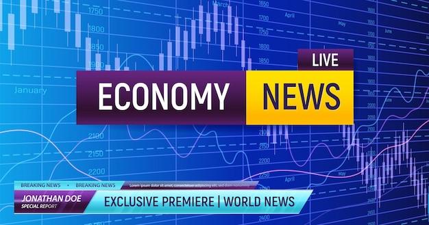 Przełomowe tło wiadomości ekonomicznych
