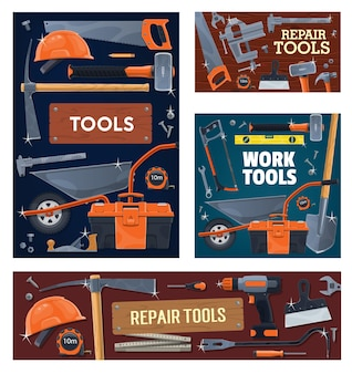 Przemysł budowlany, narzędzia i sprzęt do remontu domu.