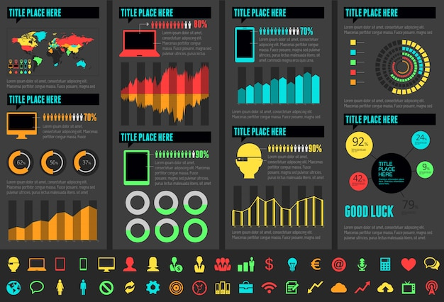 Przemysł infographic elementy