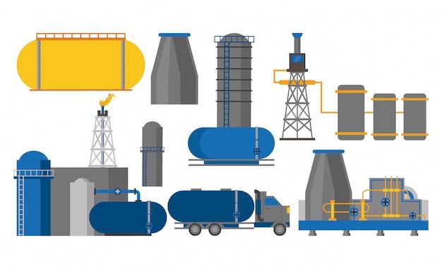 Przemysł naftowy zestaw ikon