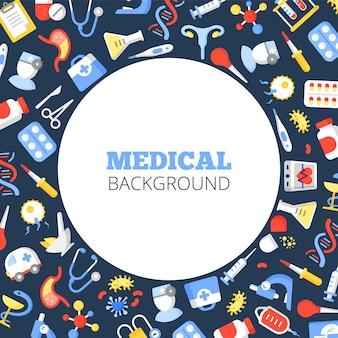 Przemysł opieki zdrowotnej mediów społecznych szablon transparent wektor
