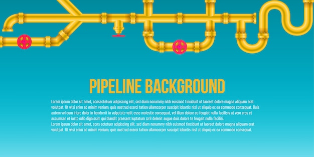 Przemysłowy olej, woda, gazowy systemu tło.
