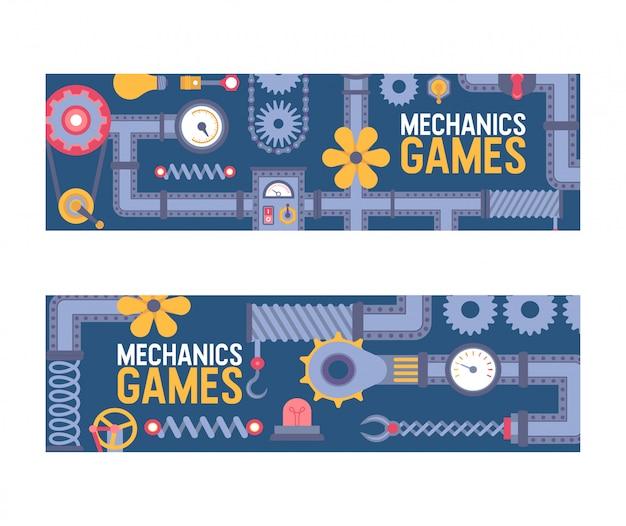Przemysłu maszynerii przemysłowej inżynierii wyposażenia przekładni fan drymby deseniowa ilustracja
