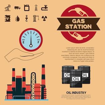 Przemysłu naftowego staci paliwowej trasnport fabryczny biznes