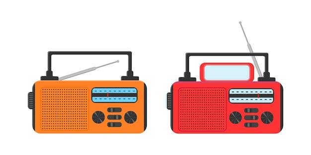 Przenośne radio awaryjne z ładowarką słoneczną i latarką do turystyki survivalowej na kempingu