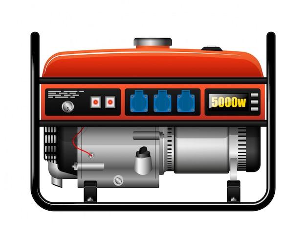 Przenośny przenośny generator elektryczny. brak prądu. wypadek lub wypadek. zapasowy zasilacz.