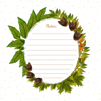 Przepiękna ramka z jesiennych liści