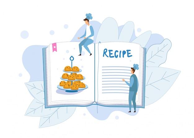 Przepis na babeczki w książce kucharskiej metafory ilustracji
