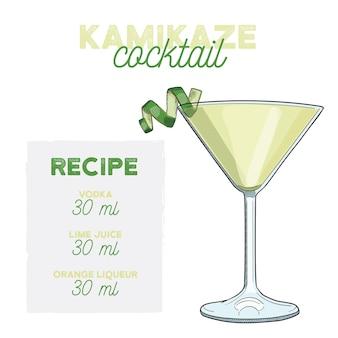 Przepis na składniki napoju koktajlowego kamikaze