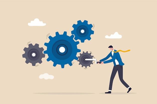 Przepływ pracy w biznesie, przywództwo kierujące zespołem.