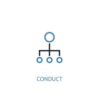 Przeprowadzić koncepcja 2 kolorowa ikona. prosta ilustracja niebieski element. prowadzić projekt symbolu koncepcji. może być używany do internetowego i mobilnego interfejsu użytkownika/ux