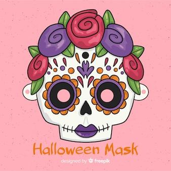 Przerażająca ręcznie rysowane halloween maski