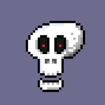 Przerażająca czaszka w stylu pixel art