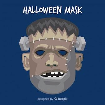 Przerażająca maska halloween z płaskiej konstrukcji