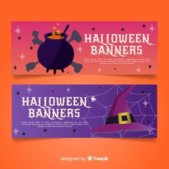 Przerażające banery halloween