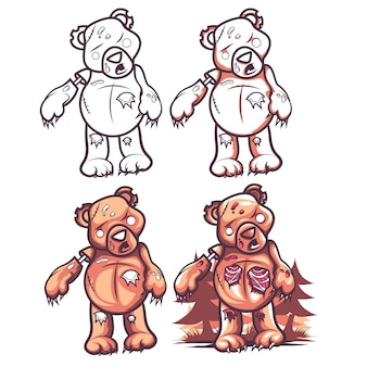 Przerażający niedźwiedź