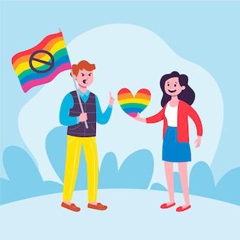 Przerwa homofobii ilustracyjny projekt