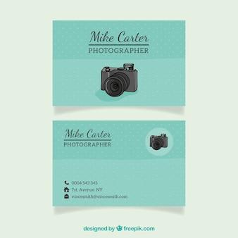 Przerywana wizytówką dla fotografa