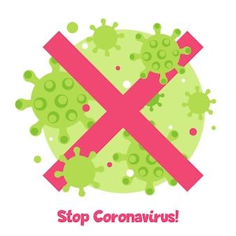 Przestań koncepcja koronawirusa