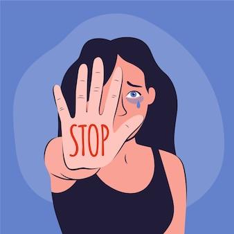 Przestań koncepcja przemocy seksualnej