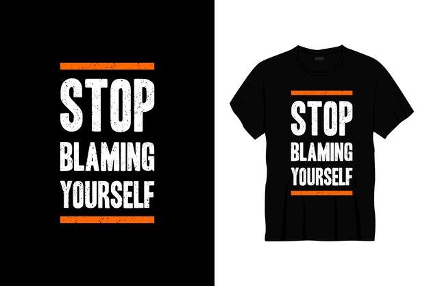 Przestań obwiniać się za projekt koszulki z typografią