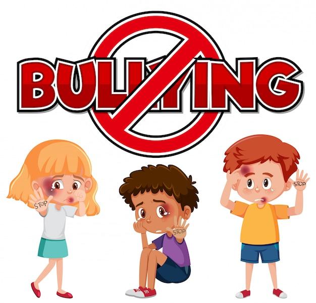 Przestań projektować czcionki przemocy domowej z prześladowaniem dzieci