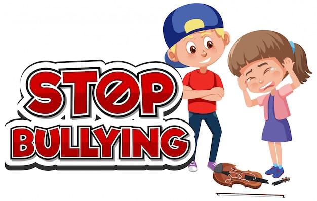 Przestań prześladować chłopca