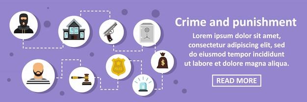 Przestępczość i kara transparent poziomy koncepcji