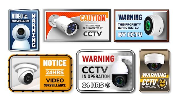 Przestroga chroń tabliczki znamionowe cctv
