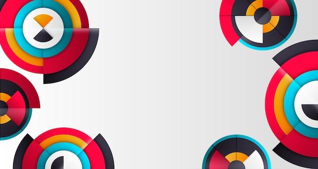 Przestrzeń kopii okrągłe geometryczne tło gradientowe