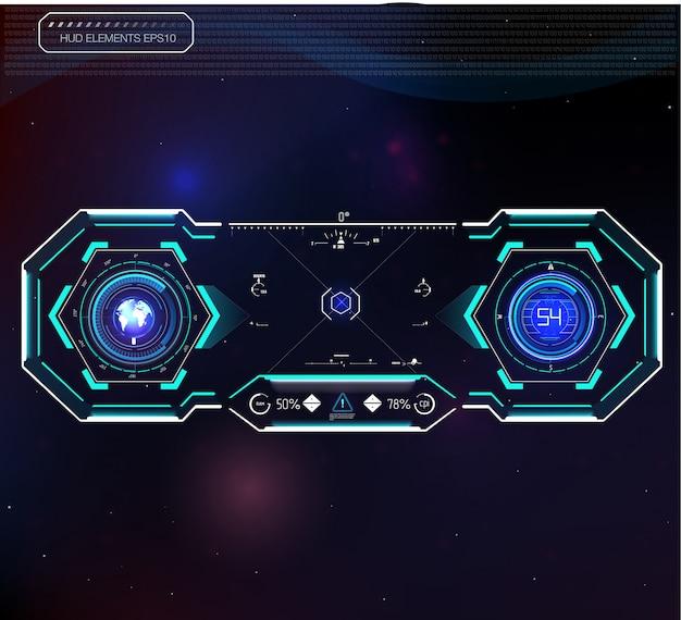 Przestrzeń kosmiczna tła interfejsu.