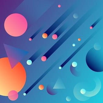 Przestrzeń streszczenie geometryczne tło gradientowe.