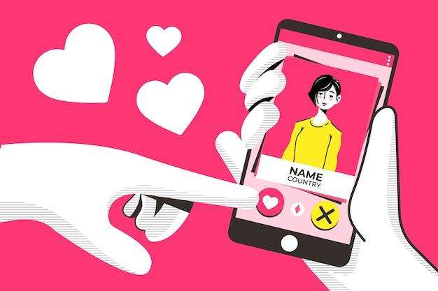 Przesuń palcem, aby uzyskać aplikację randkową