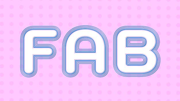 Przesunięta typografia fab skoku