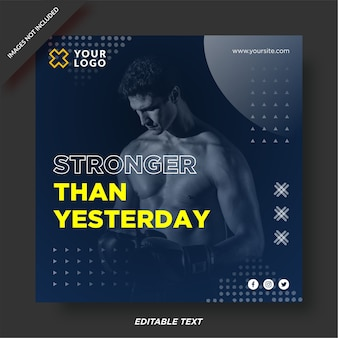 Przesuwanie limitu szablonu instagram centrum fitness