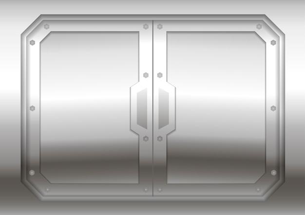 Przesuwna metalowa brama