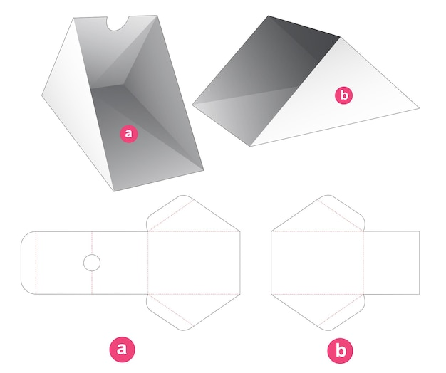 Przesuwny trójkątny karton wycinany szablon