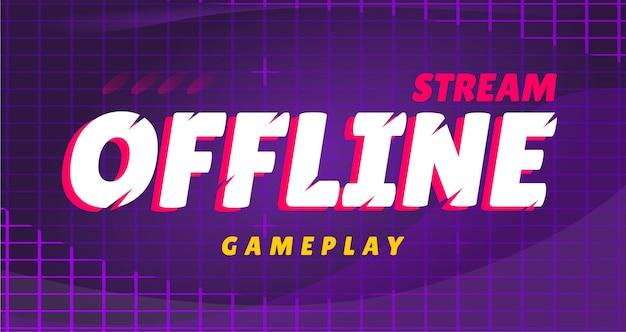 Przesyłaj strumieniowo banner rozgrywki offline