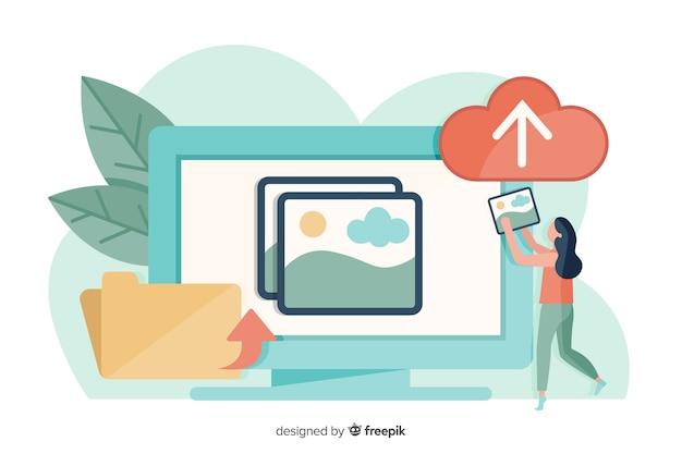 Przesyłanie obrazu online dla strony docelowej