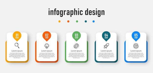 Przetwarzaj nowoczesny szablon infografiki