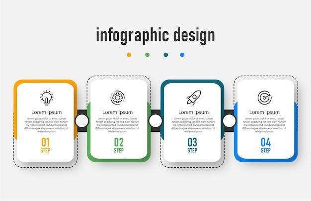 Przetwarzaj projekt szablonu nowoczesnej infografiki osi czasu