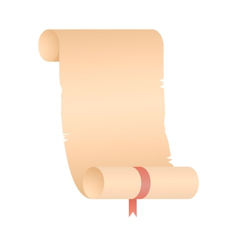 Przewiń papier papirusowy na ilustracji rolki