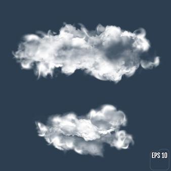 Przezroczysta chmura. realistyczna chmura.