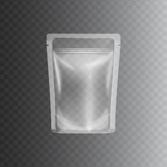 Przezroczysta przezroczysta plastikowa torba