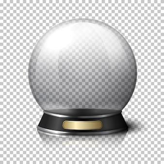 Przezroczysta realistyczna kryształowa kula dla wróżek.