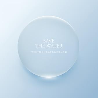 Przezroczyste kropelki wody, kropka wodna